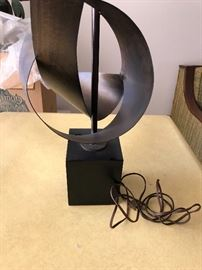 """Mid-Century Machine Age Architectural lamp by Harry Balmer 55"""" tall with extender"""