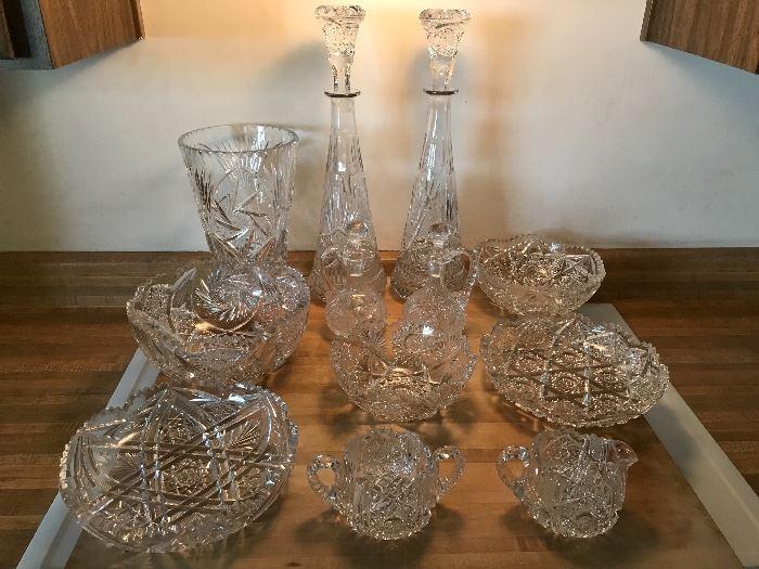 Collection of Brilliant Period cut glass