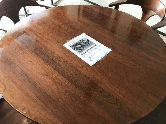 Heywood Wakefield table and 4