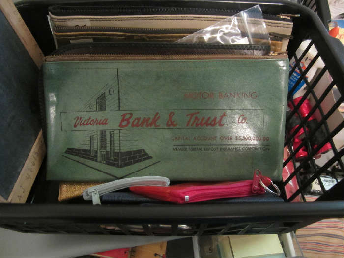 Vintage Victoria Bank and Trust Bank Bag