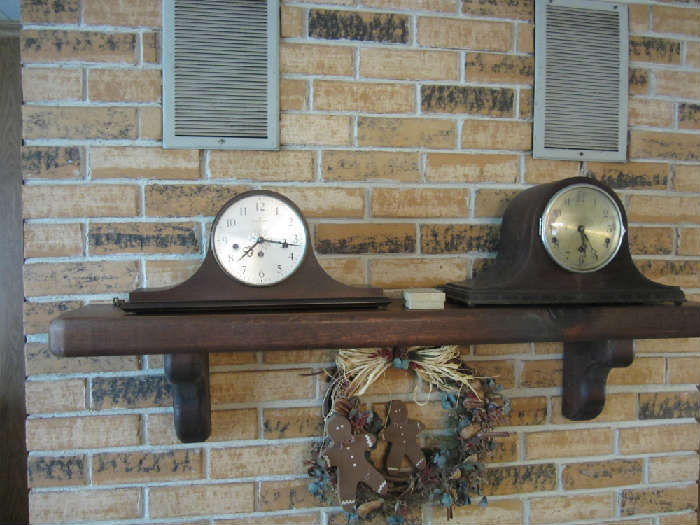 Clock on left is a Hamilton Mantle Clock