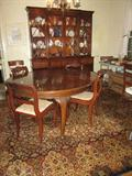 Beautiful China Cabinet and Ethan Allen Rug