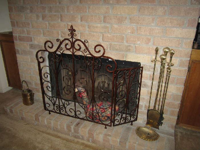 Ornate Fireplace Cover