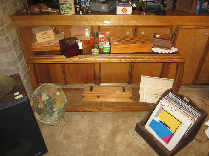 Albums, Nice Collection of Cigar Boxes, Oak Sofa Table