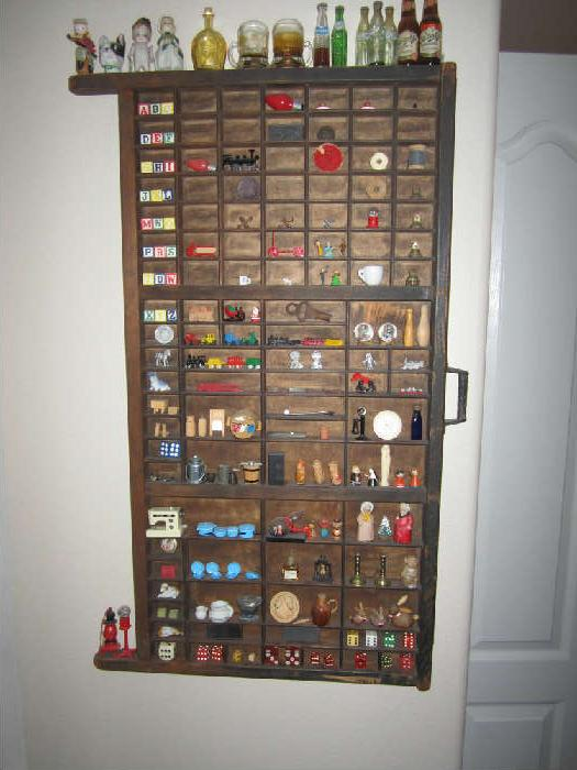 Type Tray with Years of Collecting Miniature Collectibles