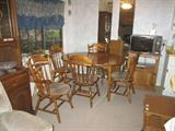 Dining room table with chairs. Excellent shape!
