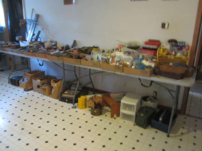 This whole table is full of mostly hand tools!