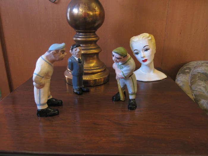 Baseball Trio Figurine