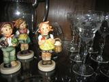 A sample of the precious Hummel/Goebel Figurines at the sale.