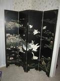 Oriental 4 panel screen