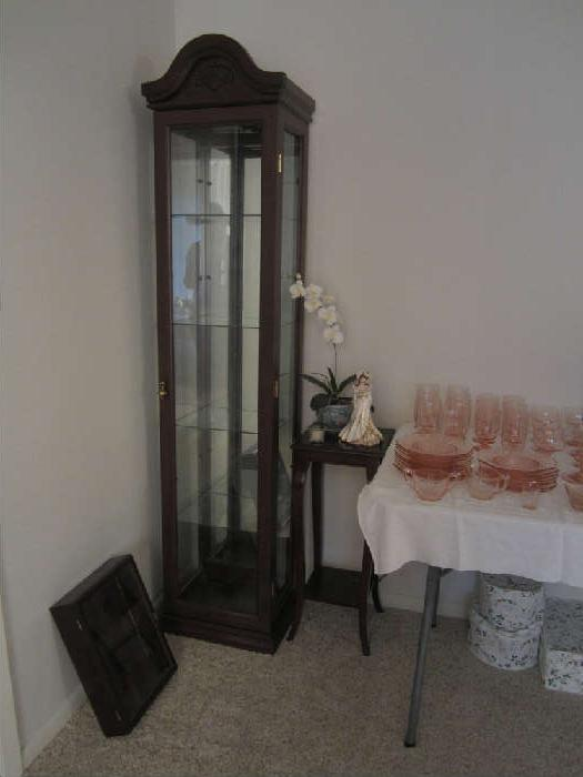 Lighted Display Case, Small Display Case, Nice Plant Stand