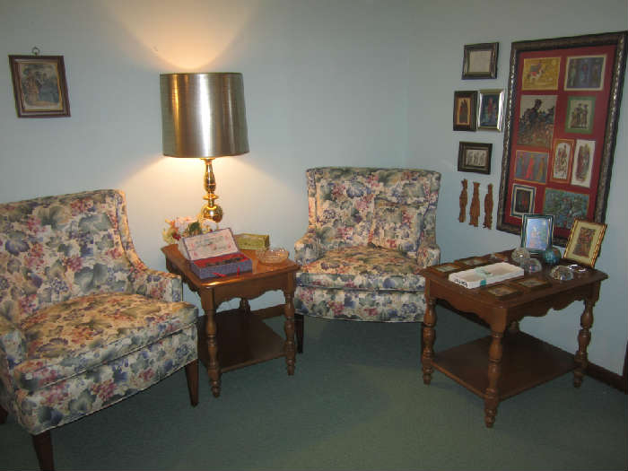 Nice Upholstered Chairs, Terracotta Chinese Warriors, Gemstone Paperweight