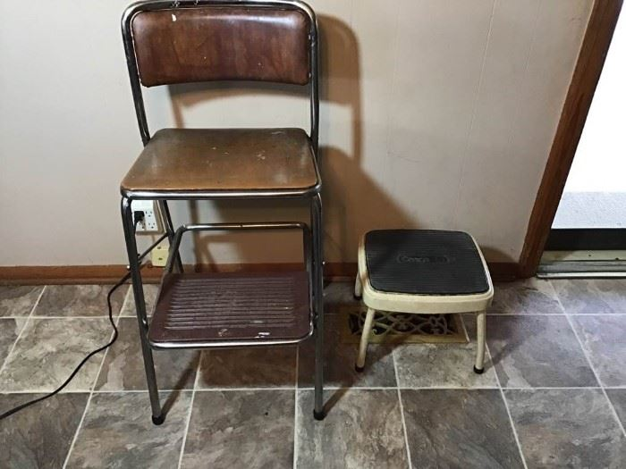 Cosco Retro Counter Chair and Step Stool