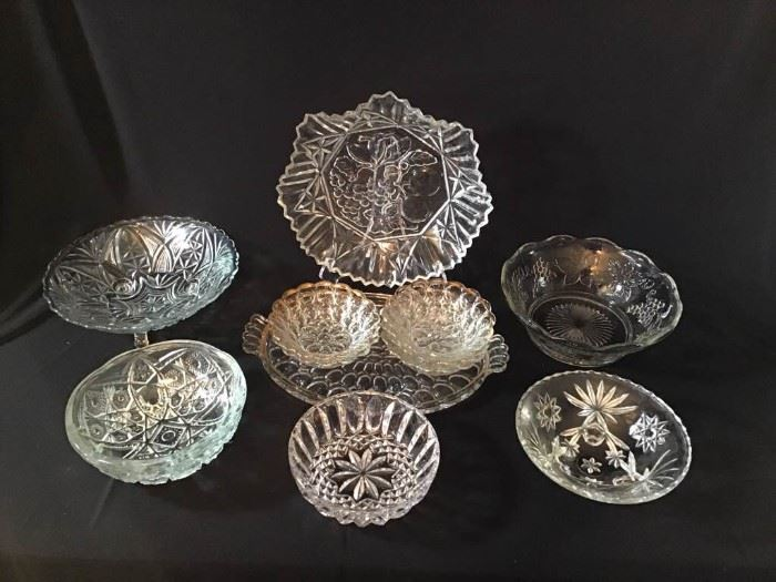 Assortment of Crystal Bowls