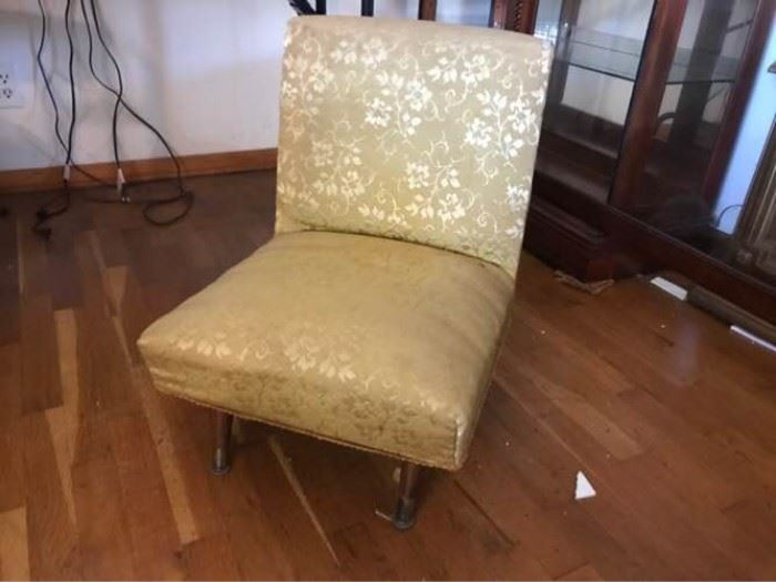 Small Gold Tapestry Chair