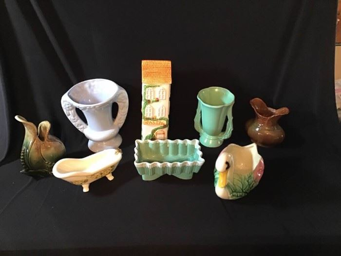 Assortment of Planters and Vases