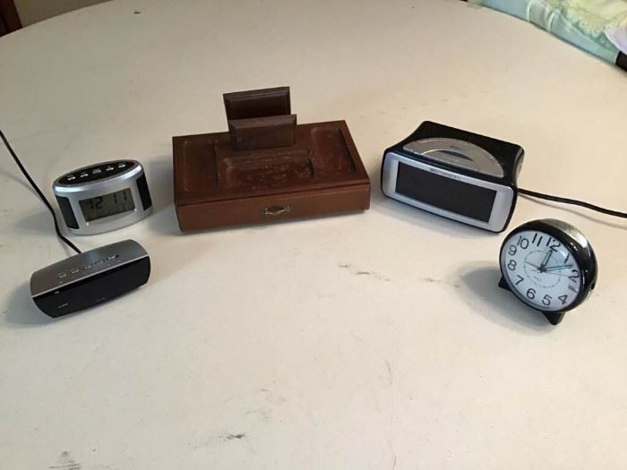 Men's Jewelry Box & Alarm Clocks