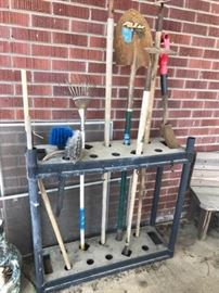 Outdoor Tools and Rack