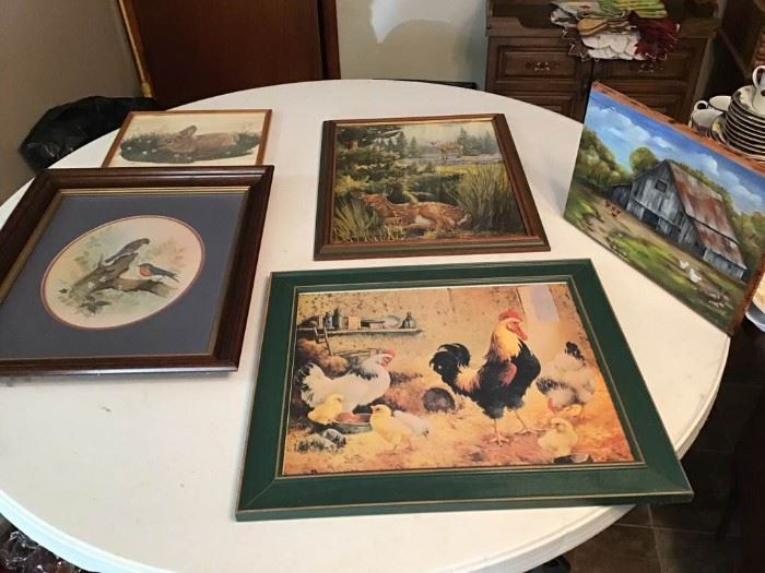 Animal Pictures and Frames- A Painted Barn Picture on Wood