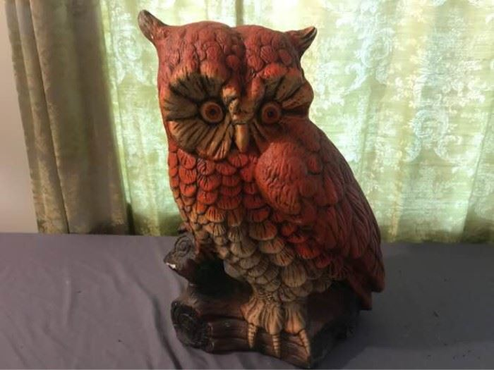 Large Ceramic Owl