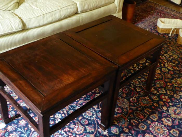 Pair of Rosewood tables
