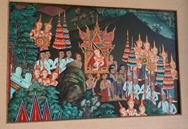 Artist: Therado - Traditional Thai Oil Painting
