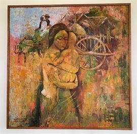 Artist: Somkiat Kiatruangchai - Oil