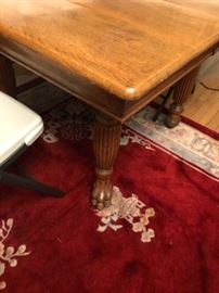 Antique Victorian Claw foot Oak Table