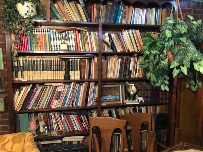 Library of Vintage and antique books