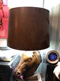 Large Vintage Horse head Lamp