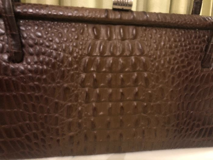 Vintage crocodile bag. Circa 1950's