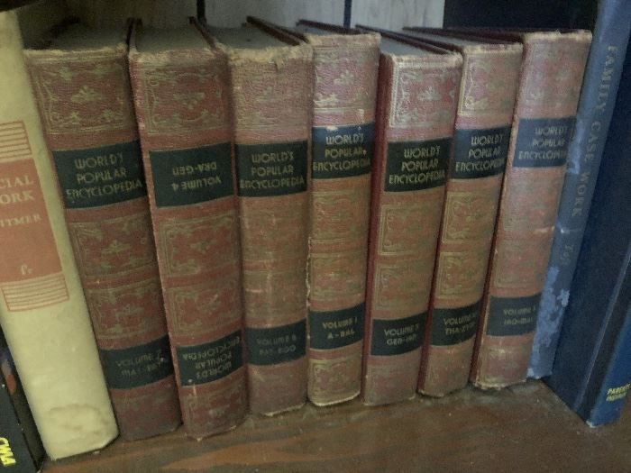 Vintage Worlds People Encyclopedias