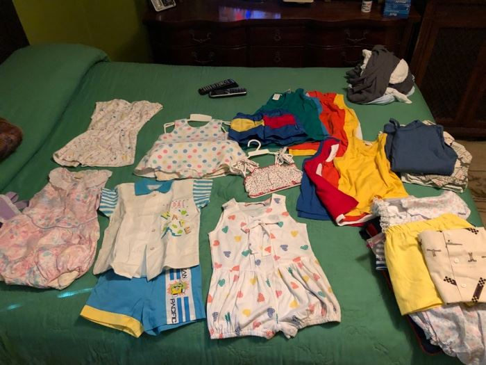 Bunch of New Baby Clothes