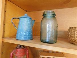 Coffee Pot, Mason Jars