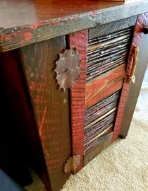 Hand crafted Folk Art end table by Allen Nysee