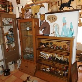 horse collection,  rifle cabinet