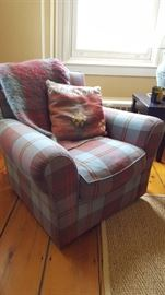 Ralph Lauren plaid club chair - country / equestrian / hunting /ski lodge decor!