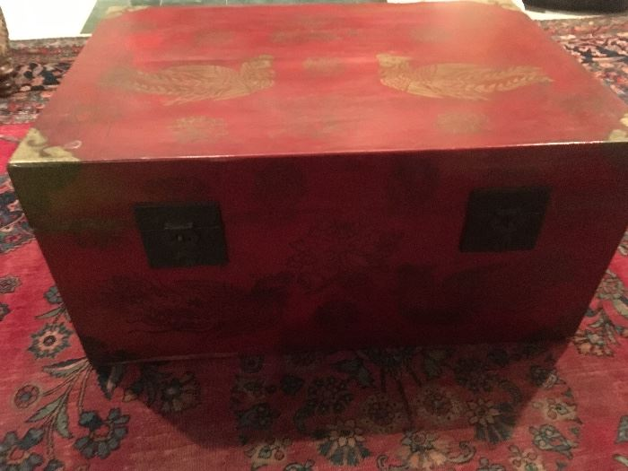 Antique  Painted Chinese Chest 0 purchased from Neiman Marcus Antique Department