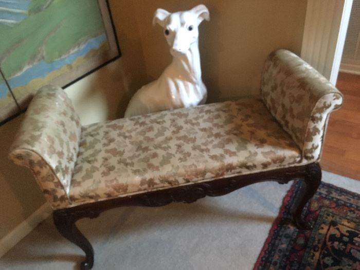 bench and french greyhound