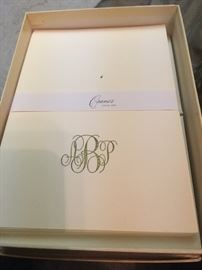 one of two different monograms of engraved with gold ink - engraved informals -- is this your monograme