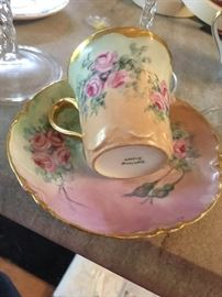 demi cup and saucer Limoges