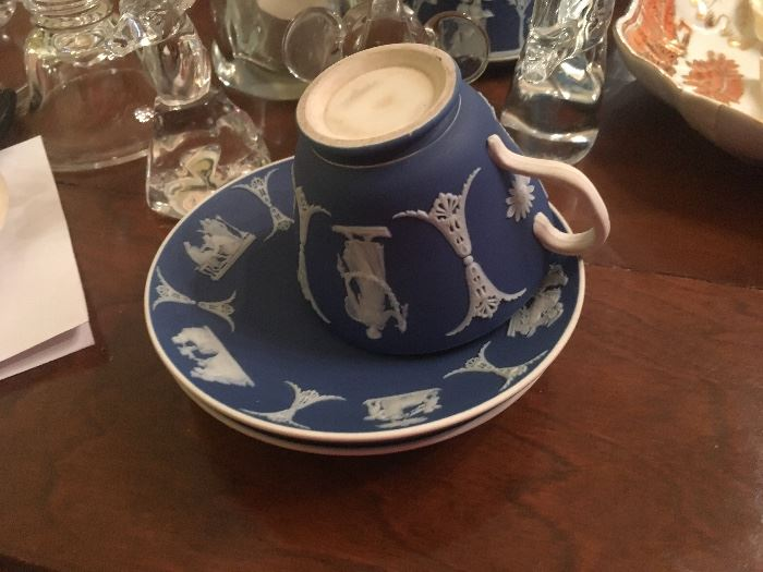 Jasperware - Royal Blue with cream relief figures