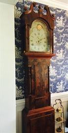 Hildeburn & Watson Philadephia Tall Case Clock Circa 1833