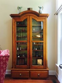 Antique Book Case with Glass Cabinets and two Drawers