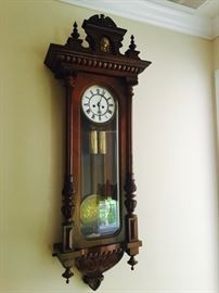 Gustave Becker Regulator, a first-class example of the Vienna Regulator wallclock World-renowned maker by Gustave Becker dating from the last quarter of the 19th Century.