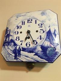 German Ceramic Kitchen Clock