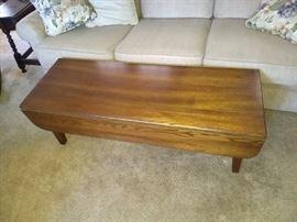 Antique Oak Drop Leaf Coffee Table