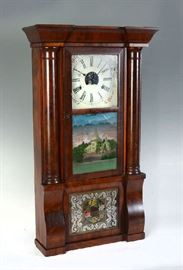 Ogee Reverse Painted Clock