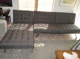 Two Matching Sofas with Chaise Lounge