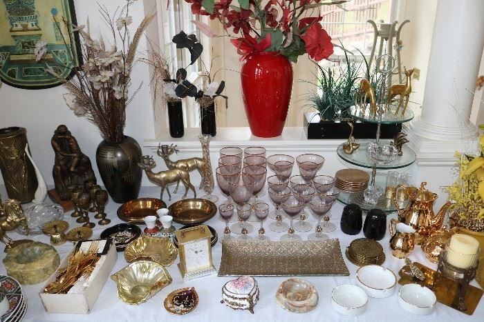 midcentury glassware, barware, and decor